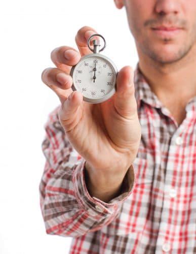 Det er vigtigt at tage tid på sine opgaver